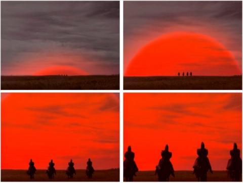 Where Dogs Run, Sunrise (Восход) 2010, video; montage of video stills courtesy of the artists